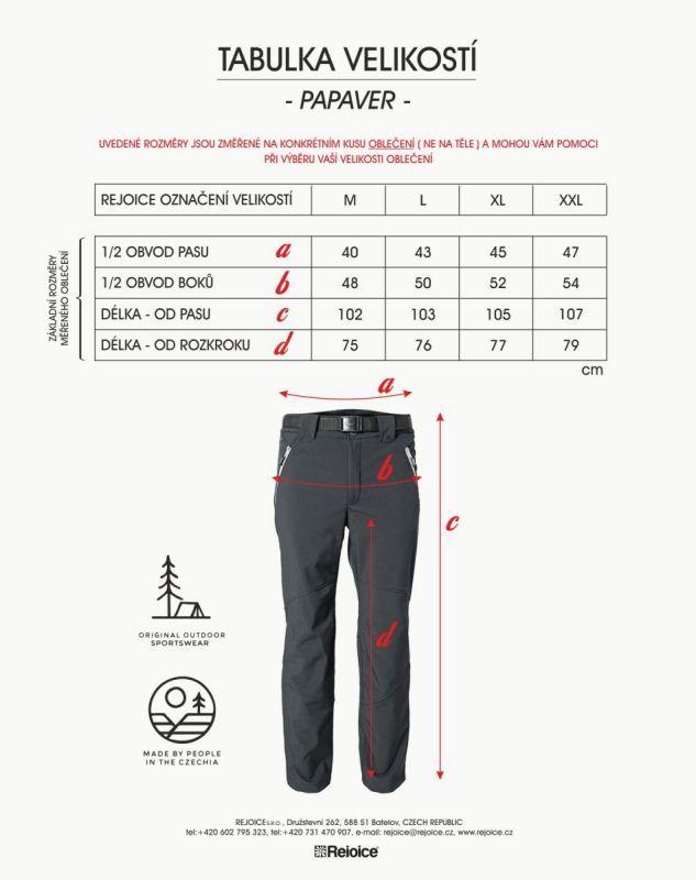 Rejoice softshellové kalhoty PAPAVER 231