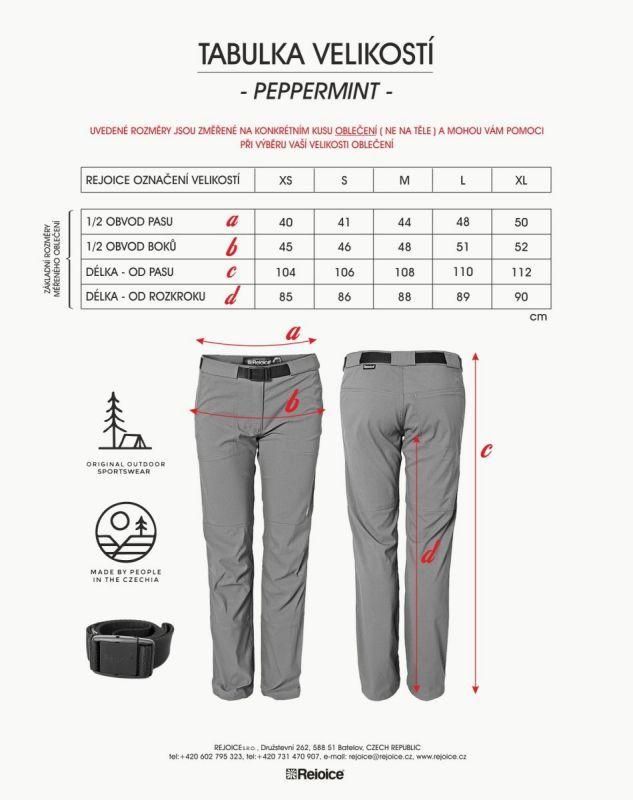 Rejoice kalhoty PEPPERMINT dámské 54
