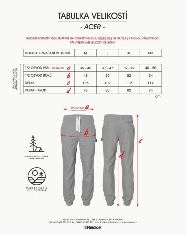 Rejoice kalhoty ACER 255