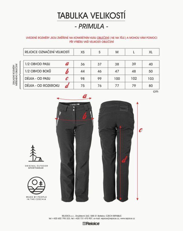 Rejoice softshelové kalhoty PRIMULA dámské 231