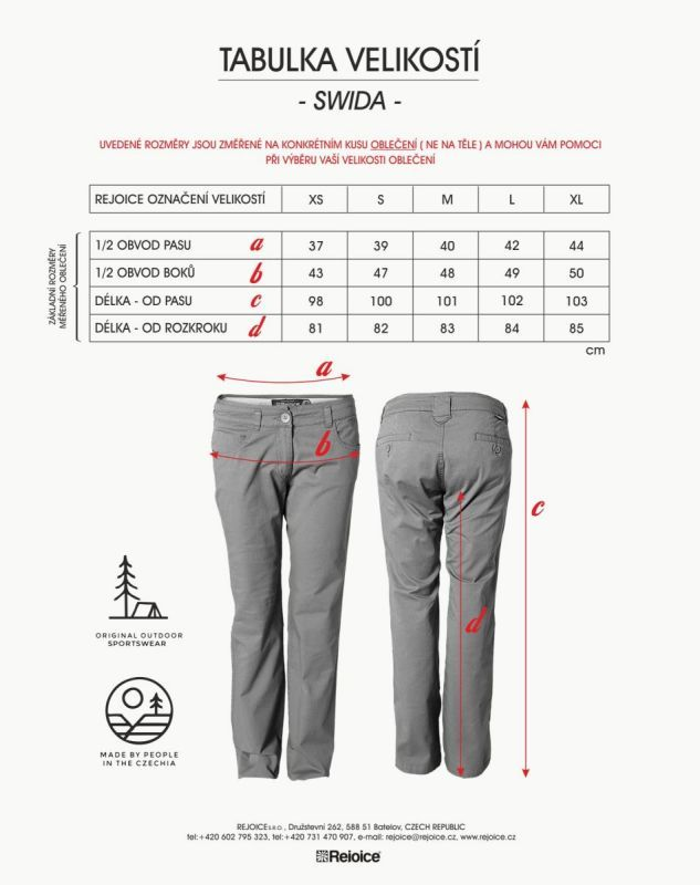 Rejoice kalhoty SWIDA dámské U198