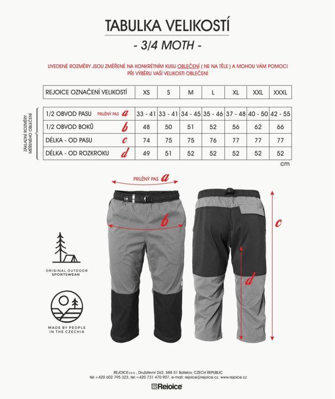 Rejoice kalhoty 3/4 MOTH unisex 206/02 fial